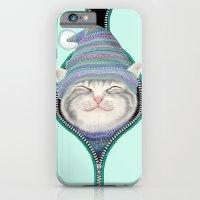 Cat in the zip iPhone 6 Slim Case