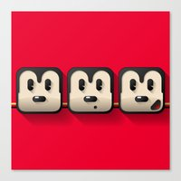 faces of mickey mouse Canvas Print