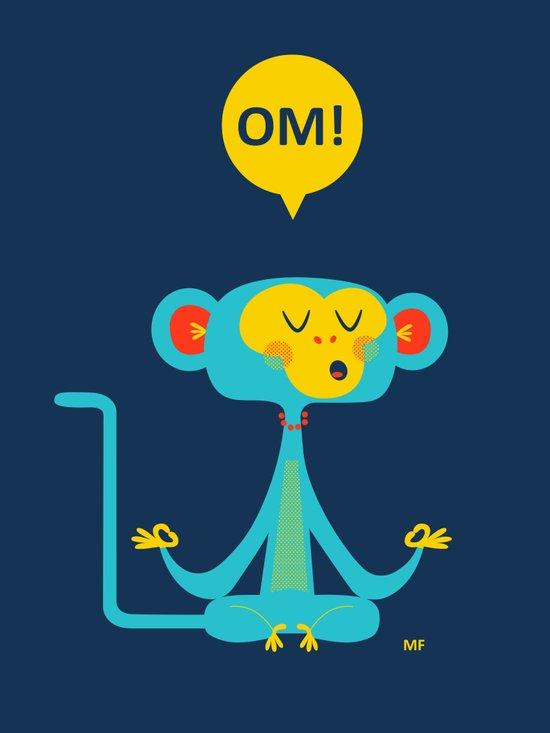 OM! Monkey Art Print