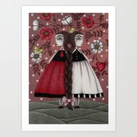 Snow-White And Rose-Red … Art Print