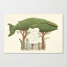 The Night Gardener - Whale Display  Canvas Print