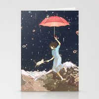 Rain returns Night Stationery Cards