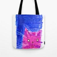 Crayon Cat Tote Bag