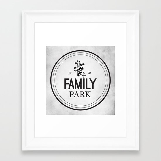 Family Park Framed Art Print