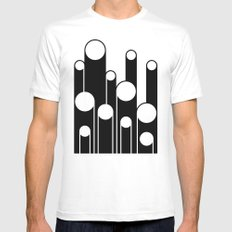 Test Pattern White Mens Fitted Tee SMALL