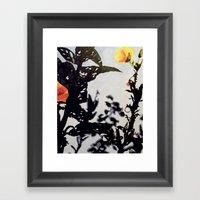Leading Leaves Framed Art Print