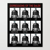 Expressions Of The Dalek Canvas Print