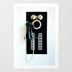 Wall Phone Art Print