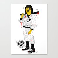 Baseball Furies Canvas Print