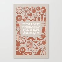 The Study of Hipsters Canvas Print