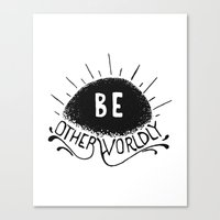 Be Otherworldly (blk) Canvas Print