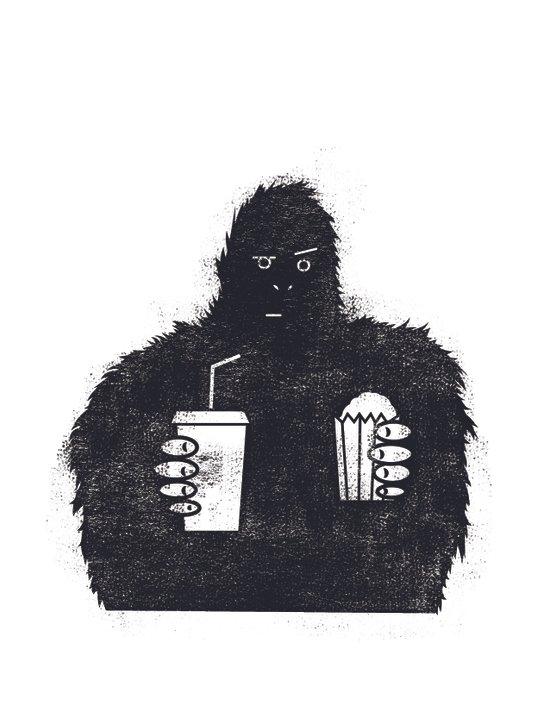 Bigfoot at the movies Art Print