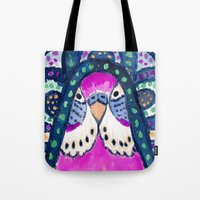 Aboriginal Budgie Tote Bag