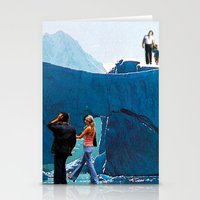 walking on ice Stationery Cards
