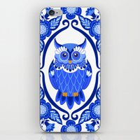 Delft Blue And White Owl… iPhone & iPod Skin