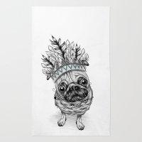 Indian Pug  Rug
