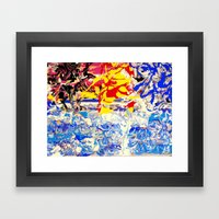 Abstract painting  - Sunset over The Sea Framed Art Print