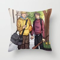Theodore And William 16 Throw Pillow