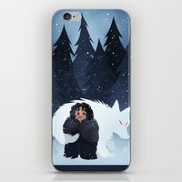 Snow And Ghost iPhone & iPod Skin