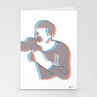 Boxing Ali (coulour) Stationery Cards