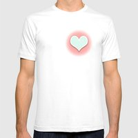 Pastel Love Mens Fitted Tee White SMALL