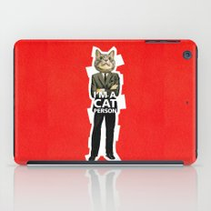 Cat Person iPad Case