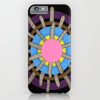 iPhone & iPod Case featuring radial blame II by rachel elizabeth duffin