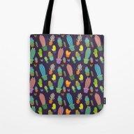 Tote Bag featuring Cactus Pattern  by Maria Jose Da Luz
