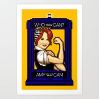 Amy Can! Art Print