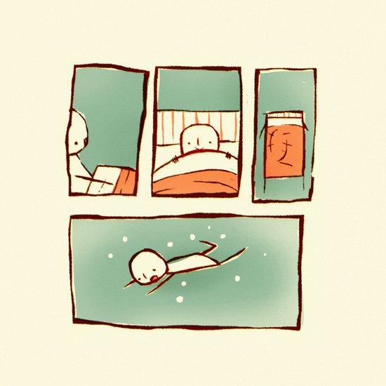 At bedtime Art Print