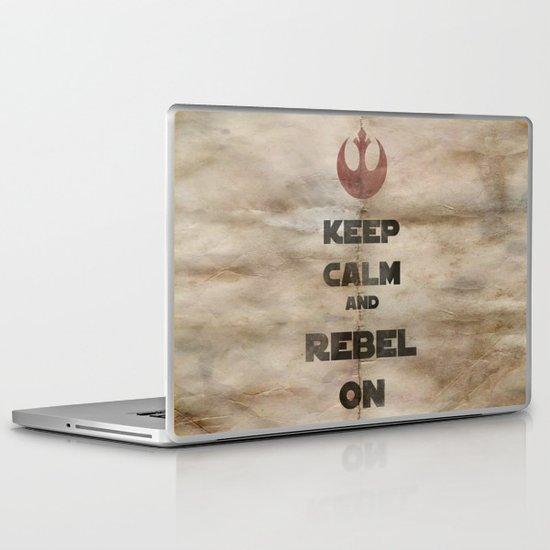 Keep Calm and Rebel On Laptop & iPad Skin