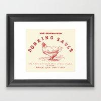 Dorking Sauce Framed Art Print