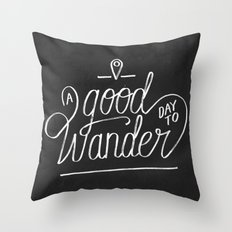 Good Day to Wander Throw Pillow