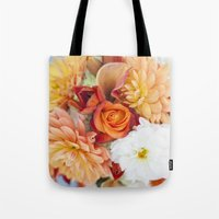 orange, yellow and white flowers  Tote Bag