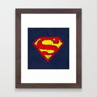 Super Man's Splash Framed Art Print