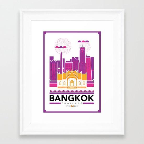 City Illustrations (Bangkok, Thailand) Framed Art Print