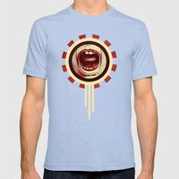Red Noise Mens Fitted Tee Tri-Blue SMALL