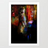 The little girl looks Art Print