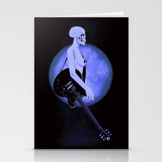 Skull Of Rock/Black Stationery Card