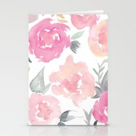Muted Floral Watercolor … Stationery Cards