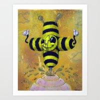 Bee Positive Art Print