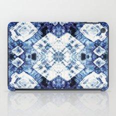 Blue Silk Tie-Dye iPad Case