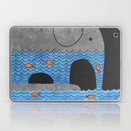 Laptop & iPad Skin featuring Thirsty Elephant  by Terry Fan