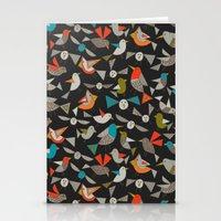 just birds dark Stationery Cards