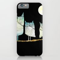 owls iPhone & iPod Cases featuring Owls by Brontosaurus
