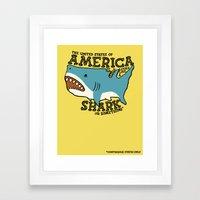 America…   it kinda looks like a shark or something Framed Art Print