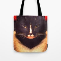 King Cat Tote Bag