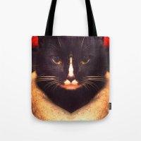 King Cat Tote Bag