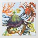 Undersea Melee Canvas Print