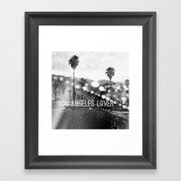 Los Angeles Lover Number… Framed Art Print